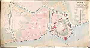 Dutch Malacca - The town and fortress of Malacca (1780)