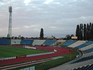 2010–11 Liga I - Image: Stadium Ion Oblemenco inside