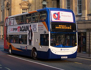 Stagecoach in Newcastle - Image: Stagecoach in Newcastle bus 19441 Alexander Dennis Trident 2 Enviro 400 NK58 FNF in Newcastle route 1 branding 3 April 2009