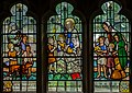 Stained glass window, All Saints' church, Beckley (15572601055).jpg