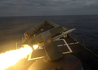 Mark 13 missile launcher - Image: Standard Missile of Spanish frigate SPS Canarias (F86)