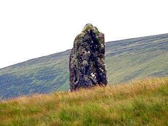 Larne - Standing stone near Cairncastle.