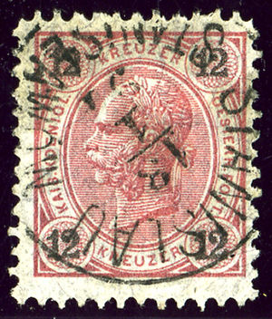 Ivano-Frankivsk - Austrian KK stamp bilingual cancelled in 1891 with German and Polish names