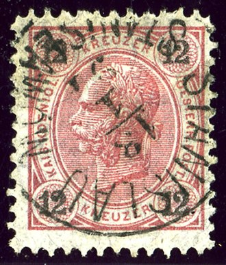 Ivano-Frankivsk - Austrian K.K. stamp bilingual cancelled in 1891 with German and Polish names