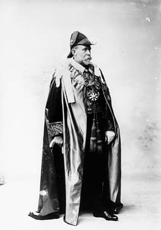 William MacGregor - Sir William MacGregor in ceremonial mantle as Governor of Queensland