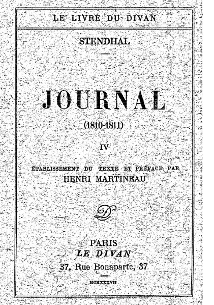 File:Stendhal - Journal, 1810-1811.djvu