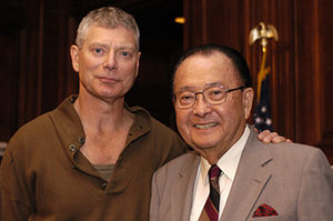 Stephen Lang - Image: Stephen Lang and Senator Daniel Inouye (Hawaii)