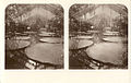 Stereoview of the Waterlily House and giant waterlily (Victoria amazonica) at Kew Gardens (5218512179).jpg