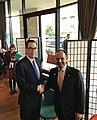 Steven Mnuchin and Nayef Al-Hajraf at Jordan Conference.jpg