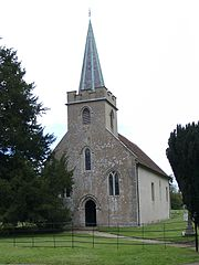 Steventon parish church, originally built around 1100