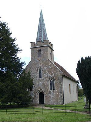 Timeline of Jane Austen - Image: Steventon Church