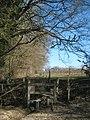 Stile on High Weald Landscape Trail near Bates Gill - geograph.org.uk - 1744075.jpg