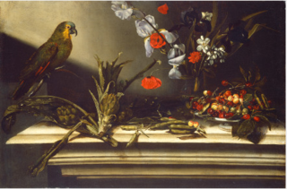 Still Life with Artichokes and a Parrot