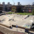Stockwell Skatepark, Brixton, London, United Kingdom - View from roof of Goodwood Mansions 24-07-2012.jpg