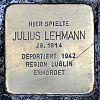 Stolperstein Gustav-Behringer-Str 10 Lehmann Julius
