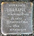 Stumbling block for Lina Mayer (Poststrasse 17)