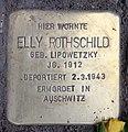 Stolperstein Bleibtreustr 17 (Charl) Elly Rothschild.jpg