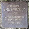 Stolperstein Gertigstraße 56 (Ernst Stender) in Hamburg-Winterhude.JPG