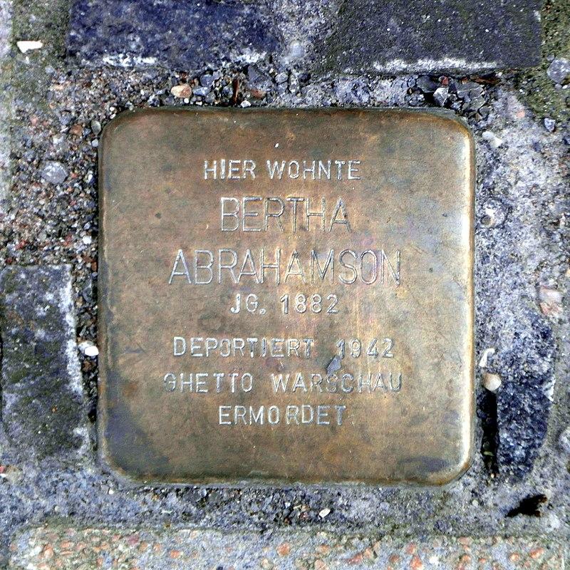 Stolperstein Bertha Abrahamson