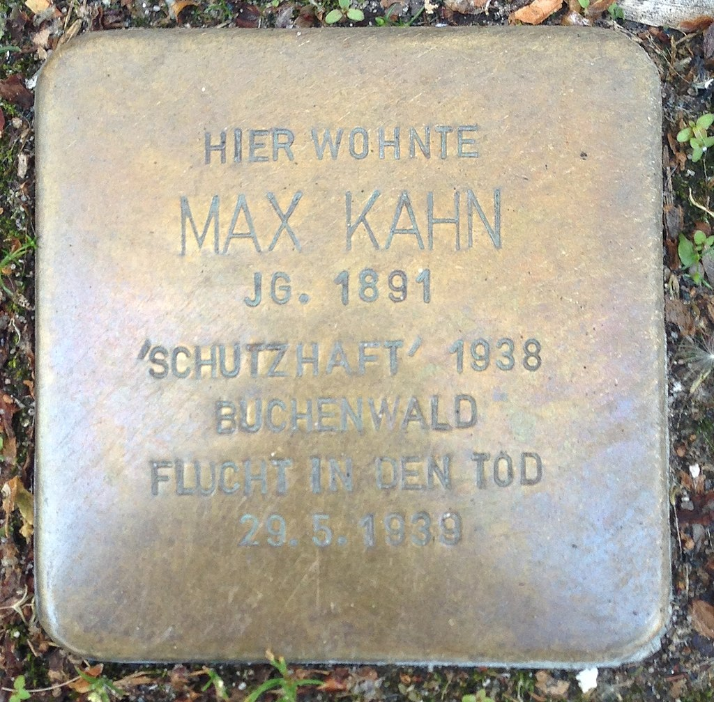 Stolperstein Hadamar Neumarkt 8 Max Kahn