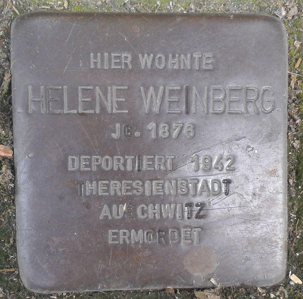 Stolperstein Köln Mathildenstraße 23 Helene Weinberg