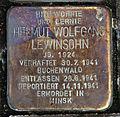 Stolperstein Klosterstr 73 (Mitte) Helmut Wolfgang Lewinsohn.jpg