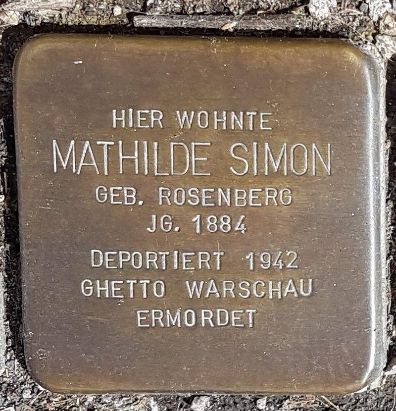 Stolperstein von Mathilde Simon