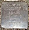 Stolperstein Söbendieken 8 (Auguste Heymann) in Hamburg-Nienstedten.JPG