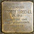 Stumbling stone for Herbert Hirschel (Marsilstein 28)