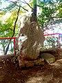 Stone monument of Kiso river and Japan Rhein in Momotaro jinja.jpg