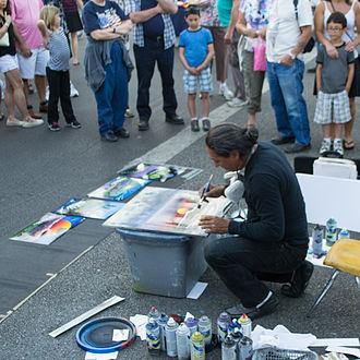 Street artist - Image: Street Artist 2
