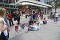 Street artist, outside the Queen Street entrance to the Eaton's Centre.jpg
