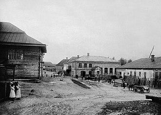 Olyka - Street in Olyka (1912–1914)