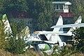 Su-27 & MiG-25 on OKB ramps - Zhukovsky 2012 (8749148001).jpg