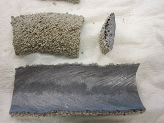 Submerged arc welding - Pieces of slag from Submerged arc welding