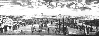Norrtälje - Norrtälje around 1700, in Suecia antiqua et hodierna.