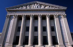 English: The east facade of the Supreme Court ...