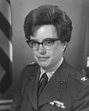 Colonel (United States) - Colonel Jeanette Sustad as Director of Women Marines.
