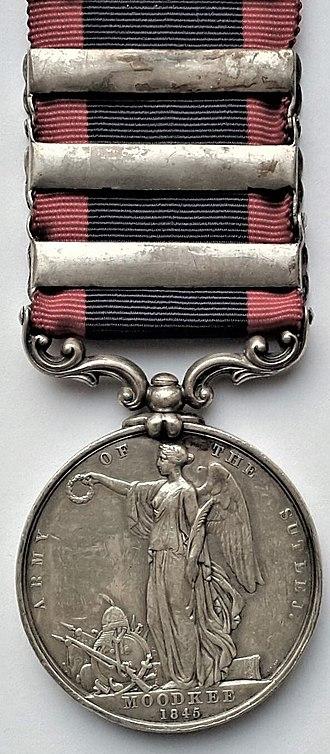 Sutlej Medal - Image: Sutlej Medal, reverse