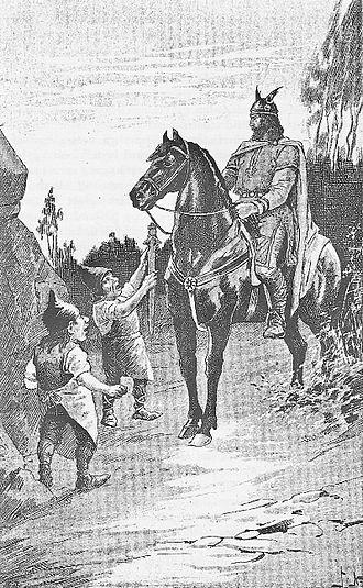 Svafrlami - Svafrlami and the Dwarves, by Jenny Nyström (1895).