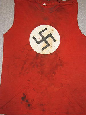 Swastika t-shirt worn by Sid Vicious of the Sex Pistols.jpg