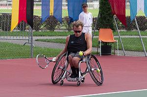 Dylan Alcott - Alcott during the Swiss open 2014 in Geneva