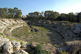 History of Sicily - The Roman amphitheatre of Syracuse.