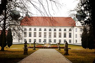 Pfuel - Tüßling castle, Bavaria, photographed, as inhabited by the Counts Bruges-von Pfuel today