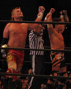 Tencozy - Tencozy as the NWA World Tag Team Champions in June 2014.