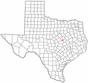 Bruceville-Eddy, Texas - Image: TX Map doton Bruceville Eddy