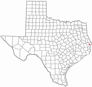 Newton, Texas - Image: TX Map doton Newton