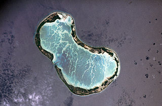 Tabuaeran atoll in Kiribati