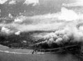 Targets on Nauru island burning in December 1943.jpg