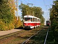 Tatra T3 tram under 1123 number on 20 route in Samara.jpg